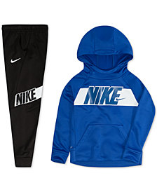 Nike Toddler Boys Dri-FIT Logo Hoodie & Logo-Print Jogger Pants