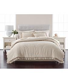 Seersucker Stripe 8-Pc. Oat Comforter Sets, Created for Macy's