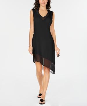 Calvin Klein Asymmetrical-Hem Cover-Up Women's Swimsuit