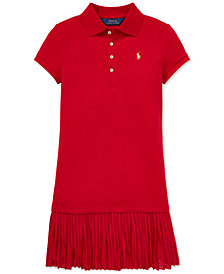 Polo Ralph Lauren Big Girls Pleated Polo Dress