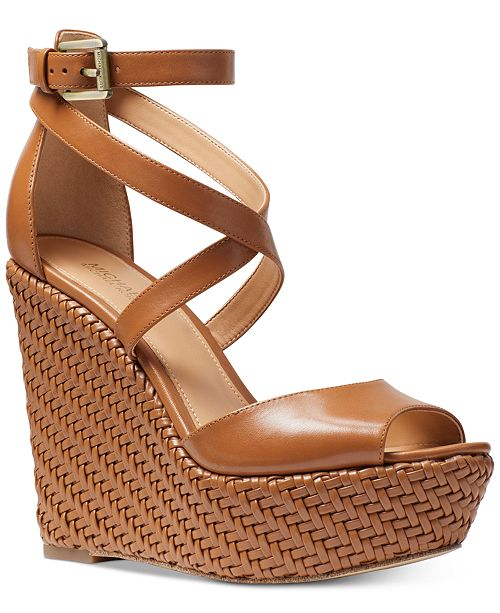 2a9acaedfce Michael Kors Gabriella Wedge Sandals   Reviews - Sandals   Flip ...