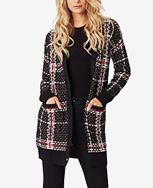 Jessica Simpson Juniors' Maria Plaid Cardigan