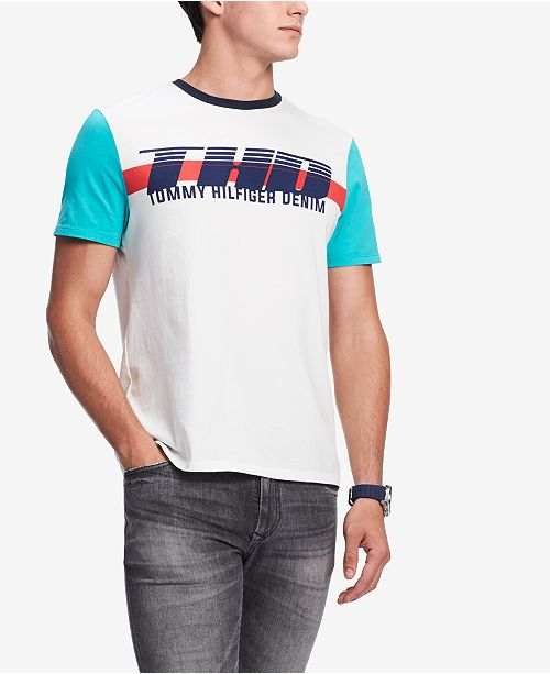 effbd05a ... Tommy Hilfiger Men's Colorblocked Graphic T-Shirt, Created for Macy's  ...