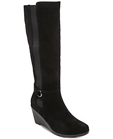 Aqua College Lucy Waterproof Wedge Boots, Created for Macy's