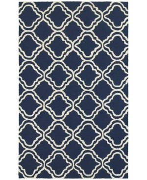 Closeout! Tommy Bahama Home Atrium Indoor/Outdoor 51111 Blue/Ivory 8' x 10' Area Rug