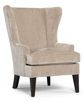 martha stewart saybridge collection fabric accent wing chair