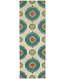 "Tommy Bahama Home  Jamison 53306 Beige/Blue 2'6"" x 8' Runner Area Rug"