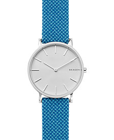 Skagen Hagen Slim Blue Recycled Woven Strap Watch 38mm