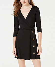 Ultra Flirt Juniors' Faux-Wrap Dress