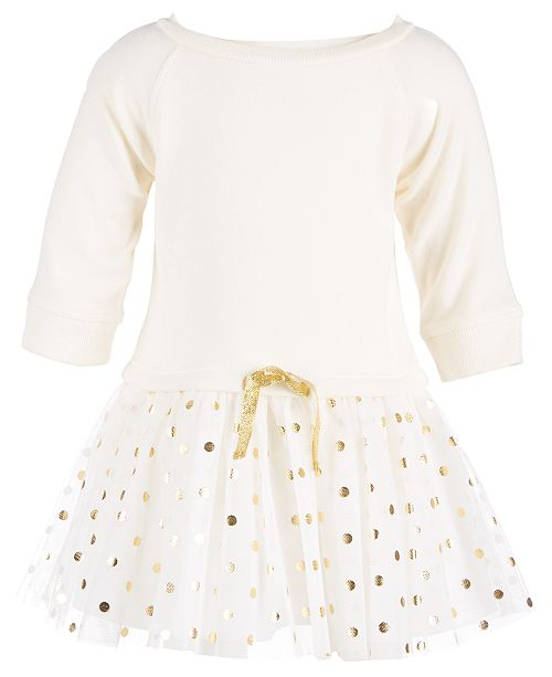 First Impressions Baby Girls Fleece Tulle-Skirt Dress 67af55a56