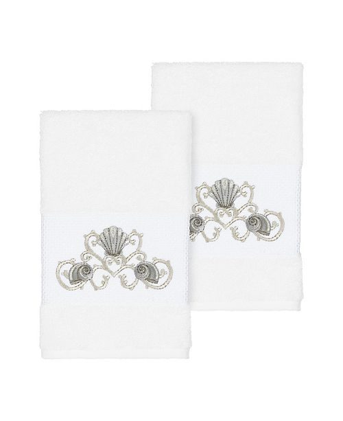 Linum Home Bella 2-Pc. Embroidered Turkish Cotton Hand Towel Set