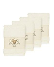 Bella 4-Pc. Embroidered Turkish Cotton Washcloth Set