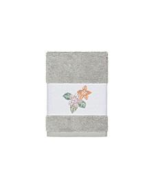 Caroline Embroidered Turkish Cotton Washcloth