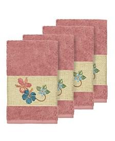 Caroline 4-Pc. Embroidered Turkish Cotton Hand Towel Set