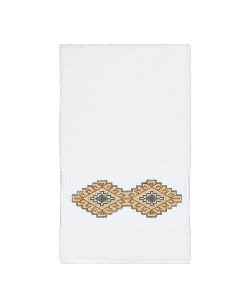 Linum Home Gianna Embroidered Turkish Cotton Bath Towel
