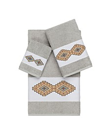 Gianna 3-Pc. Embroidered Turkish Cotton Towel Set