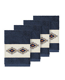 Linum Home Gianna 4-Pc. Embroidered Turkish Cotton Washcloth Set
