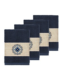 Linum Home Isabelle 4-Pc. Embroidered Turkish Cotton Washcloth Set