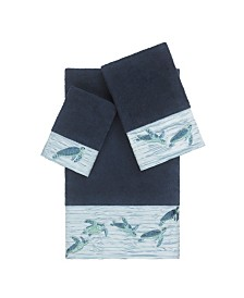 Linum Home Mia 3-Pc. Embroidered Turkish Cotton Towel Set