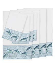 Linum Home Mia 8-Pc. Embroidered Turkish Cotton Bath and Hand Towel Set