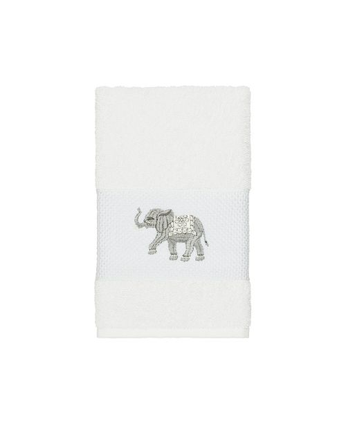 Linum Home Quinn Embroidered Turkish Cotton Hand Towel