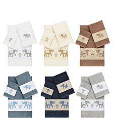 Linum Home Quinn Embroidered Turkish Cotton Bath Towels
