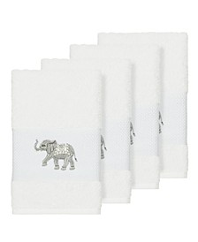 Quinn 4-Pc. Embroidered Turkish Cotton Hand Towel Set
