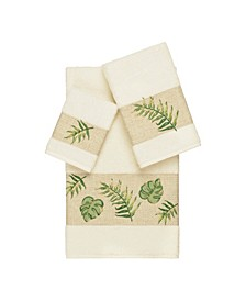 Zoe 3-Pc. Embroidered Turkish Cotton Towel Set
