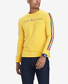Tommy Hilfiger Men's Knox Stripe-Sleeve Logo Graphic T-Shirt, Created for Macy's