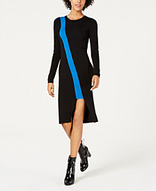 Bar III Colorblocked Cutout Sweater Dress, Created for Macy's