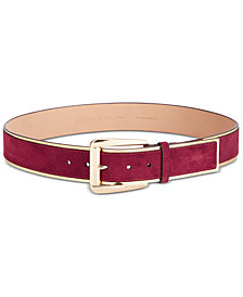 MICHAEL Michael Kors Metallic & Suede Belt