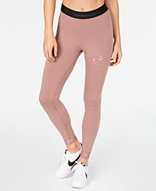 Nike Sportswear Metallic-Logo Leggings