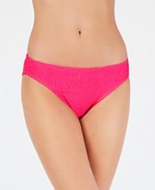 Hula Honey Juniors' Pucker Up Textured Hipster Bikini Bottoms, Created for Macy's