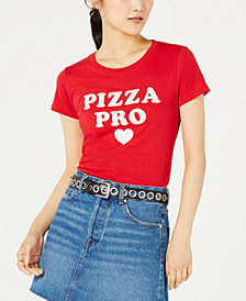 Love Tribe Juniors' Pizza Pro Graphic-Print T-Shirt