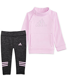 adidas Baby Girls 2-Pc. Fleece Pullover & Legging Set