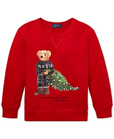 Little Boys Holiday Bear Fleece Sweatshirt