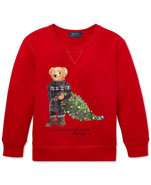 Polo Ralph Lauren Toddler Boys Holiday Bear Fleece Sweatshirt