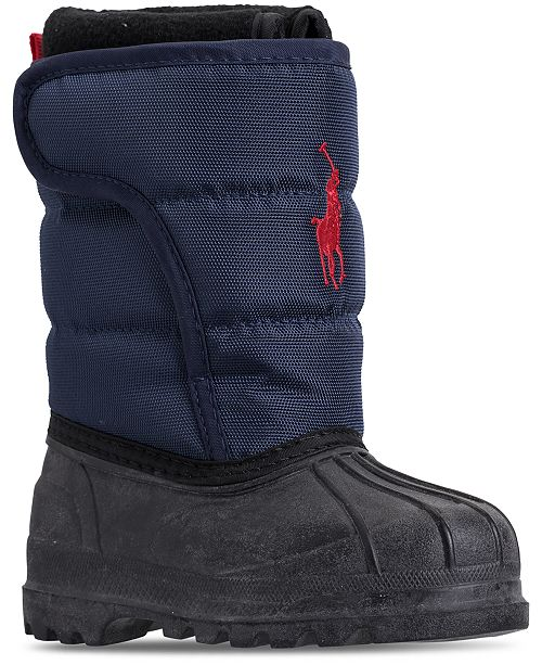 617d0a36d ... Polo Ralph Lauren Toddler Boys  Hamilten II EZ Boots from Finish ...