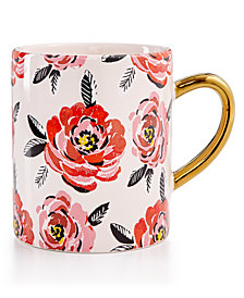 Martha Stewart Collection Floral Mug, Created for Macy's