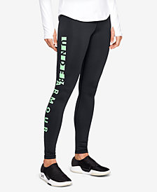 Under Armour ColdGear® Fleece-Lined Logo Leggings