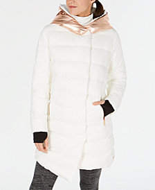 Calvin Klein Performance Down Metallic-Hood Walker Jacket