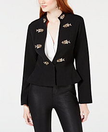 XOXO Juniors' Brooch-Embellished Blazer