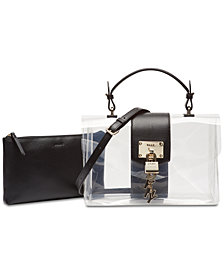 DKNY Elissa Flap Clear Shoulder Bag, Created for Macy's