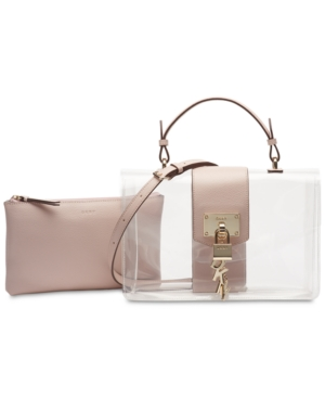 Image of Dkny Elissa Flap Clear Shoulder Bag, Created for Macy's