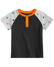 First Impressions Toddler Boys Star-Sleeve T-Shirt, Created for Macy's