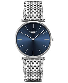 Longines Men's Swiss La Grande Classique de Longines Stainless Steel Bracelet Watch 37mm
