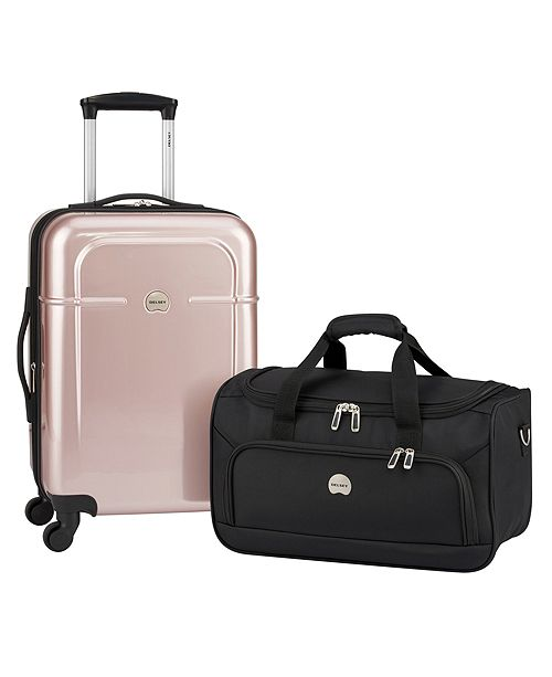 cbe0158e4e Delsey CLOSEOUT! Air Quest Carry-On Spinner with Bonus Duffel ...