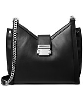 252c9bd9880a MICHAEL Michael Kors Whitney Polished Leather Chain Shoulder Tote
