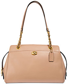 COACH Refined Calf Leather Parker Carryall Satchel