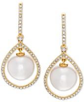 da3286bae Honora White Cultured Freshwater Pearl (8-1/2 mm) & Diamond (